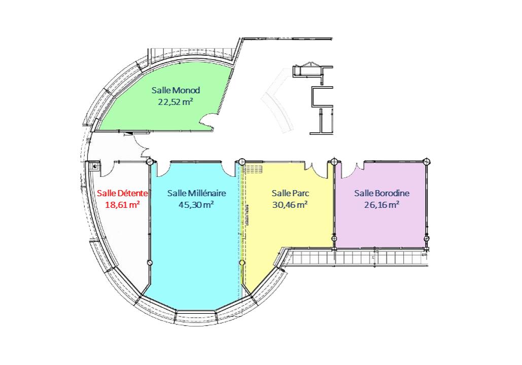 Plan de location salle de réunion Parc technologique Lyon Est Saint Priest
